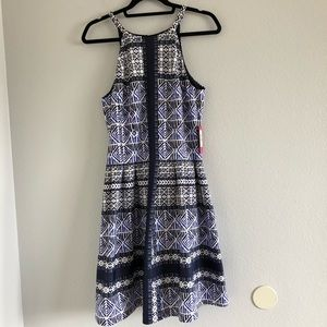 NWT Vince Camuto Print Scuba Fit & Flare Dress 12
